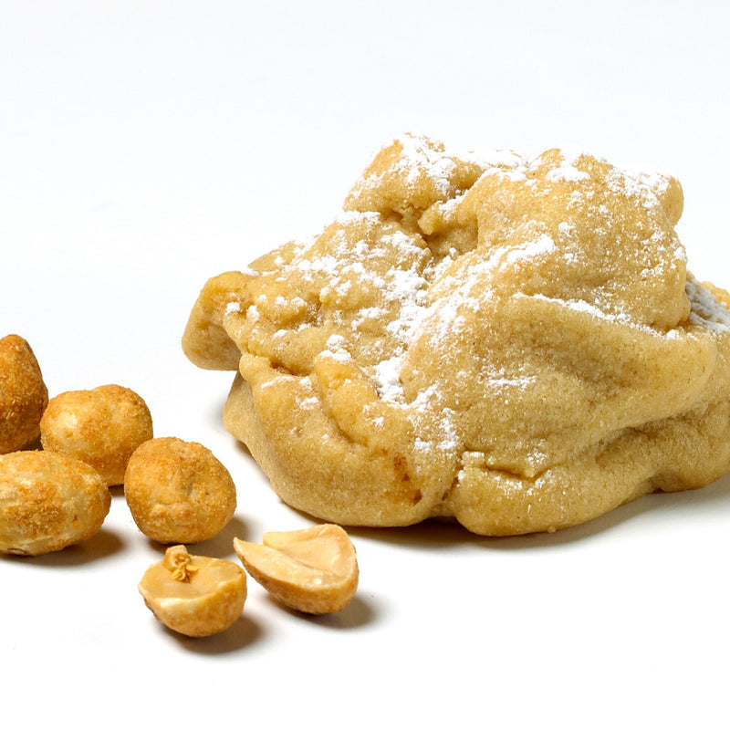 For lovers of peanut butter! A creamy, peanut butter dough, topped with powdered sugar.