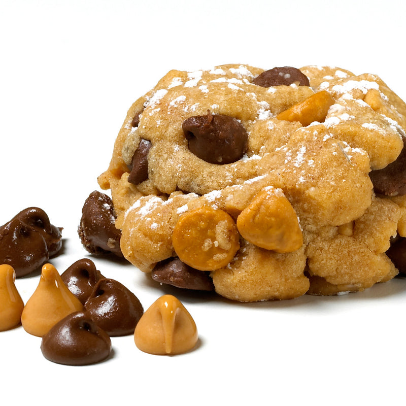 Butterscotch, peanut butter and milk chocolate chips all in one cookie.