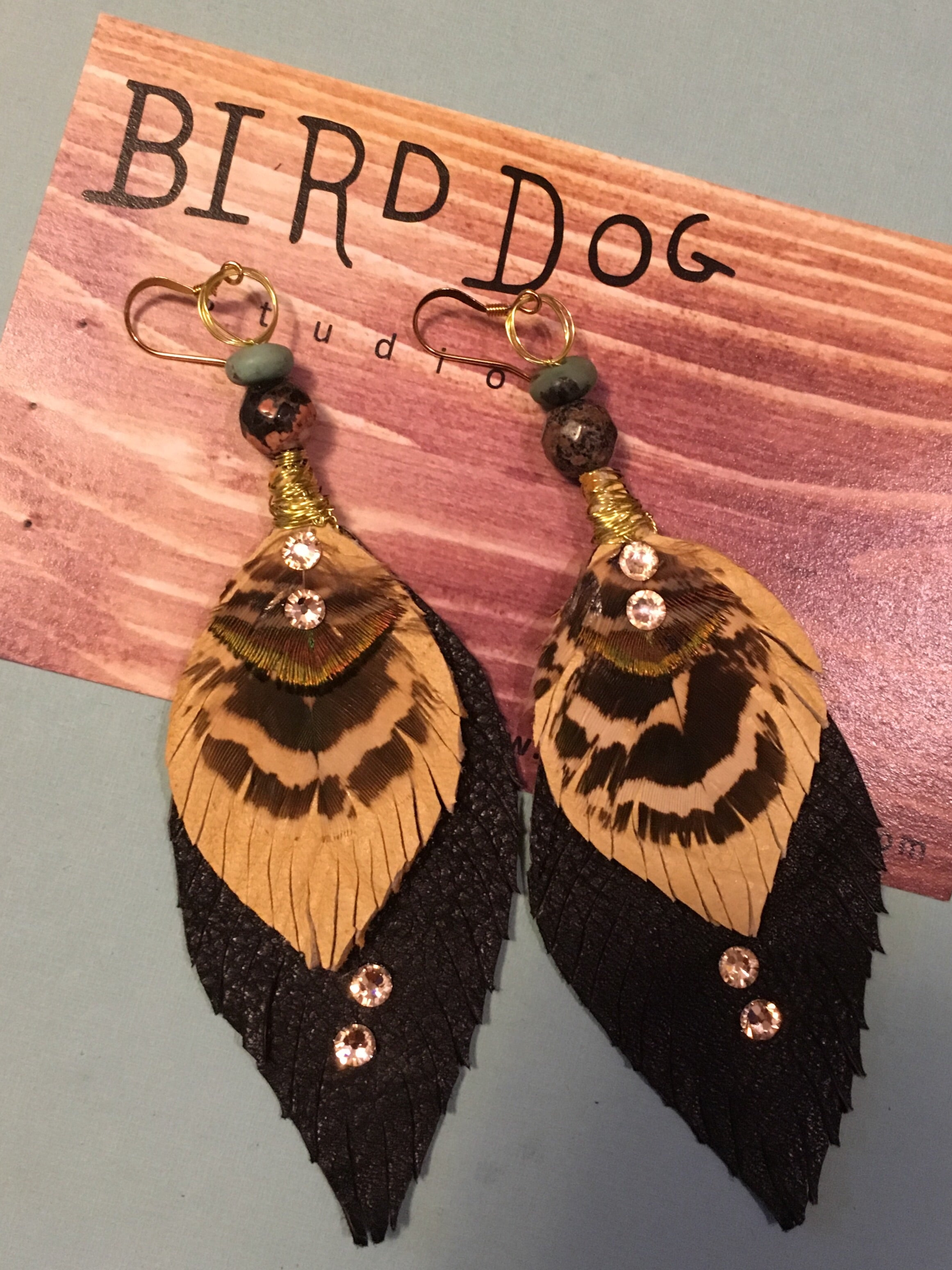 Skye Feather Earrings- options