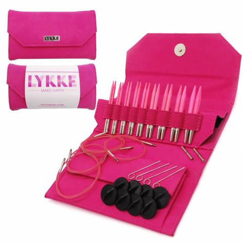"Lykke 3.5"" Interchangeable Knitting Needle Set - Blush"