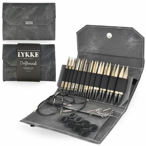 "Lykke 5"" Interchangeable Knitting Needle Set - Driftwood"