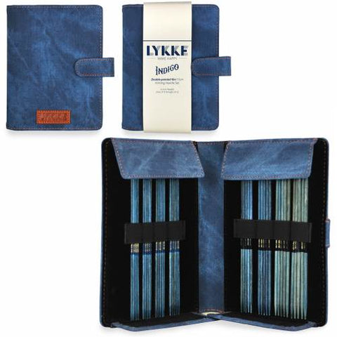 Lykke Double Pointed Knitting Needle Gift Set - Small Set - Indigo