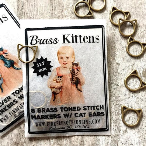 Firefly Notes Brass Kittens Markers