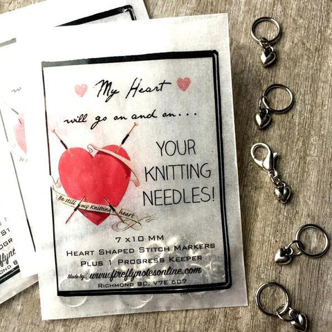 Firefly Notes Heart Stitch Markers