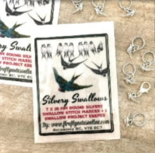Firefly Notes Silvery Swallows Stitch Markers