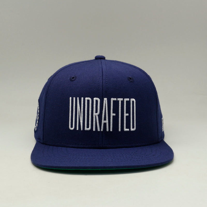 Undrafted Snapback - Navy Blue/White