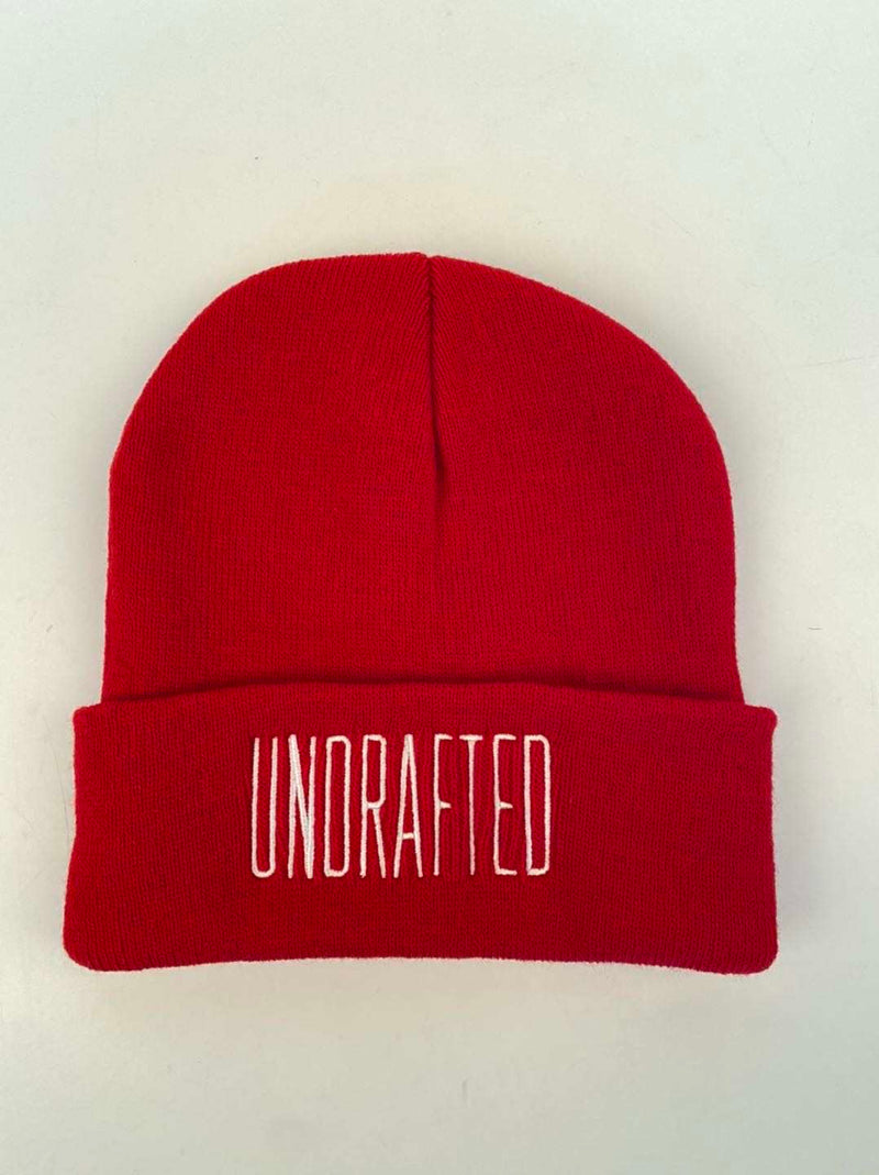 Undrafted Beanie - Red/White