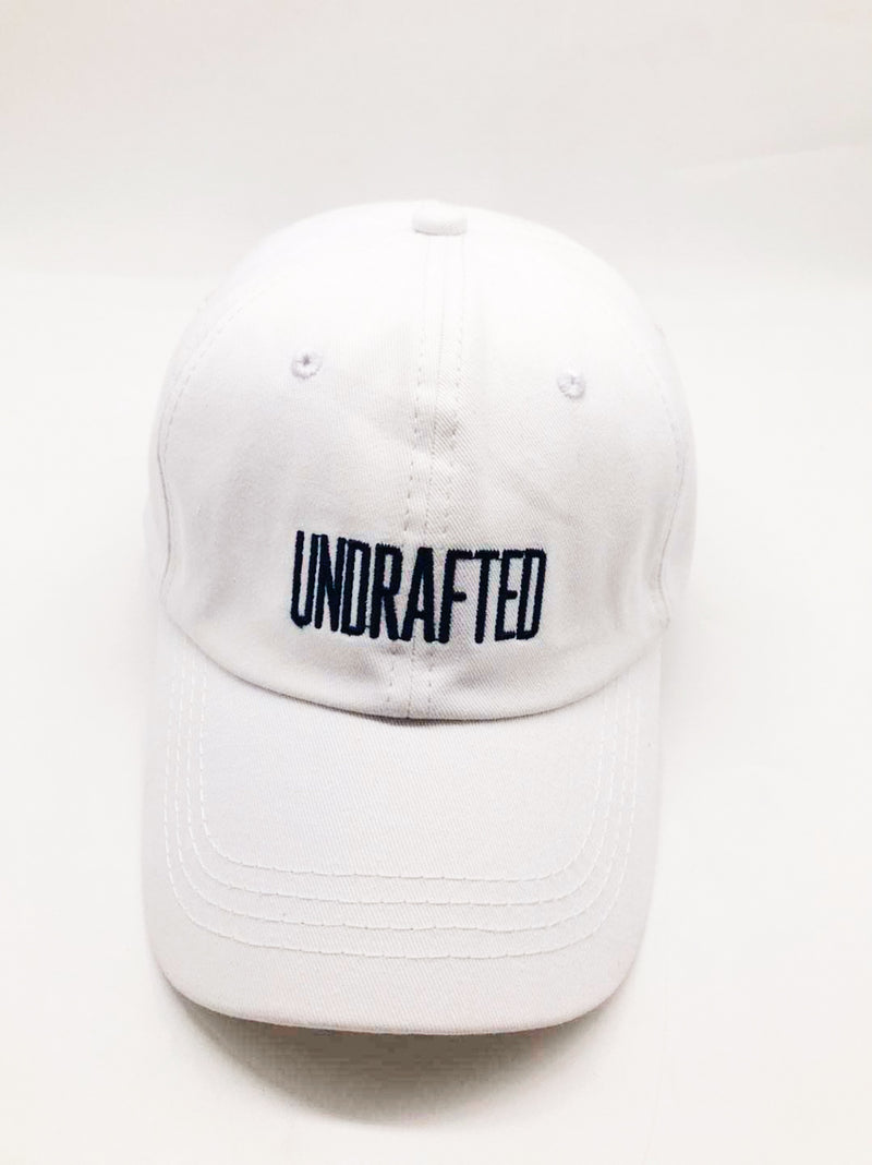 Undrafted Dad Hat - White/Navy Blue