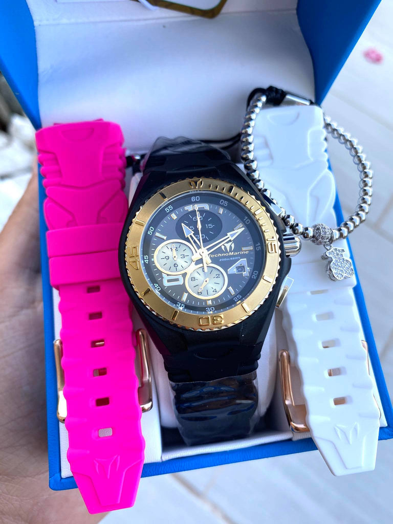 Technomarine Women's 40mm Cruise JellyFish TRES CORREAS + PULSERA GRATIS - techno305