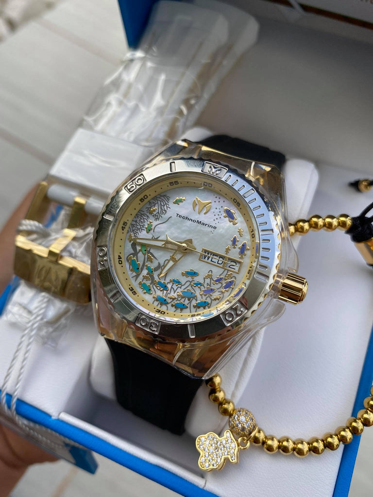 TECHNOMARINE CRUISE DREAM 40MM WATCH WITH GOLD + PULSERA GRATIS