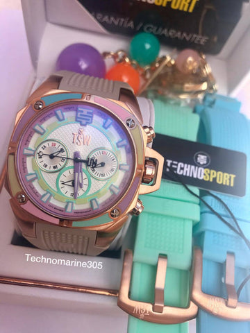 TechnoSport Camaleon Women's Swiss Chrono with 3 Straps - techno305