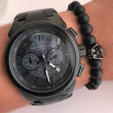 Technomarine full black + Pulsera - techno305