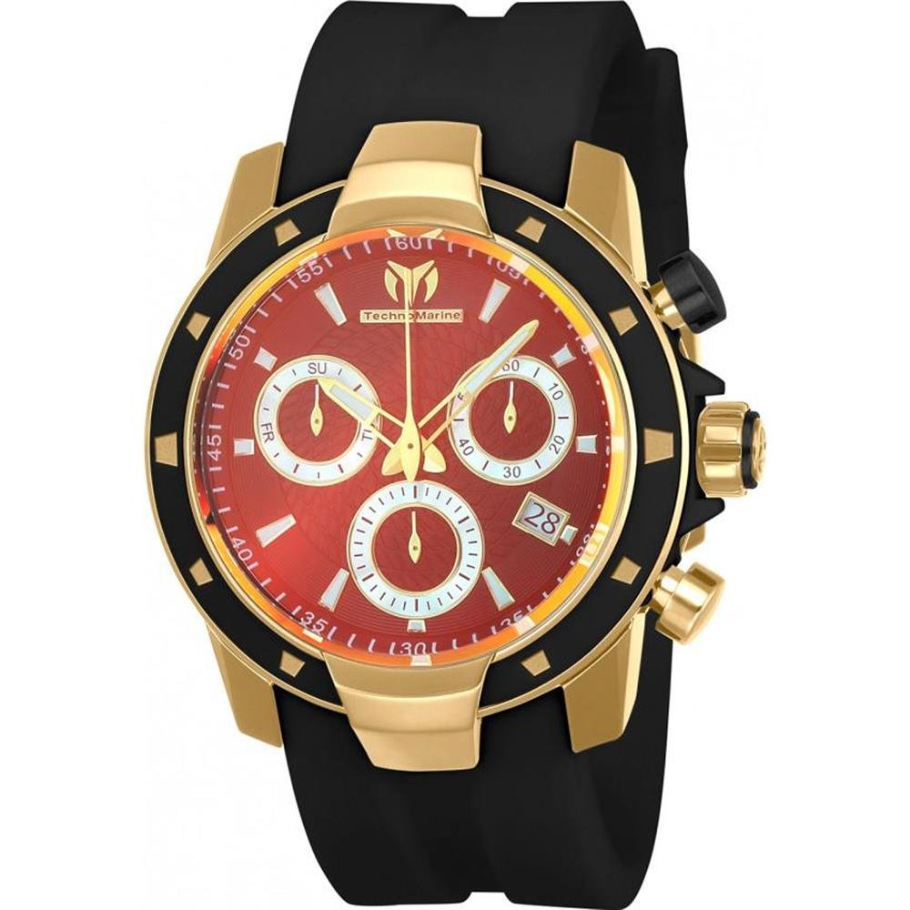 Technomarine TM-615005 Men's UF6 Black & Gold Swiss Watch + Pulsera - techno305