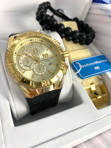 Technomarine Cruise Star 45mm Gold + Pulsera Gratis - techno305