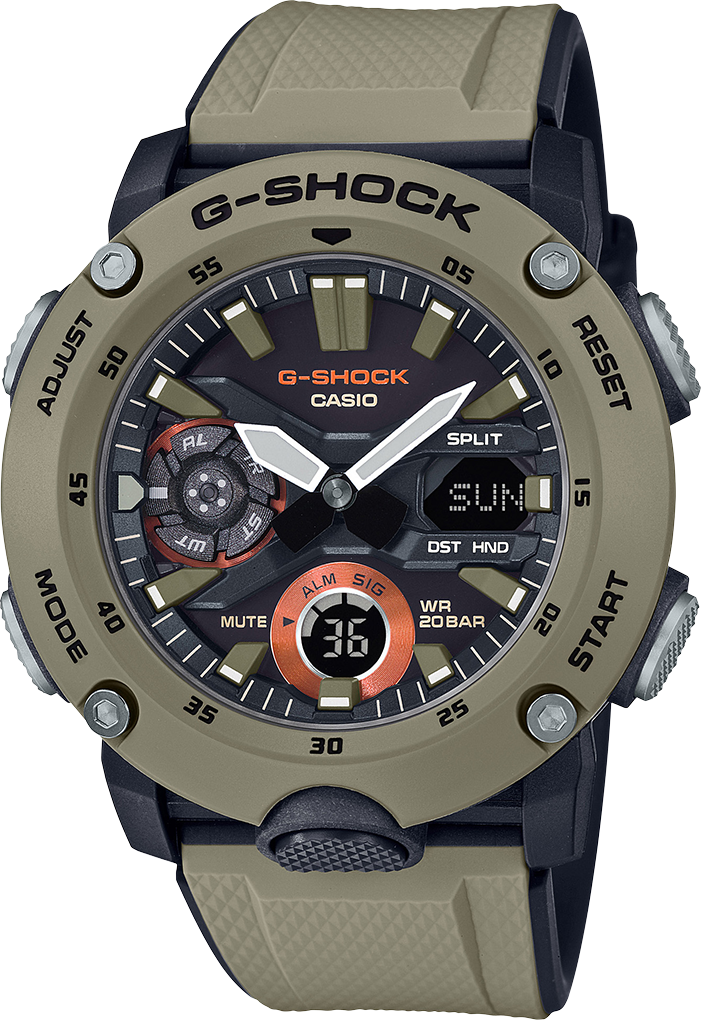 G-shock Digital GA2000-5A - techno305