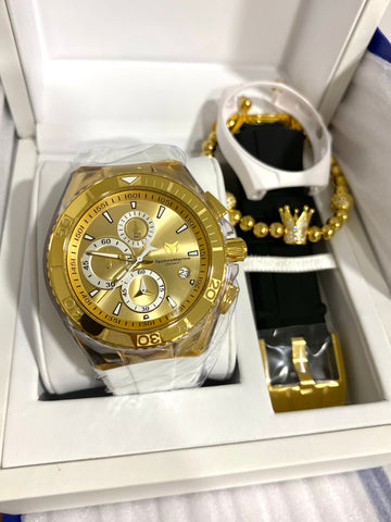 Technomarine Gold and Gold + pulsera Gratis