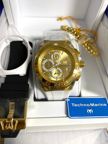 Technomarine Gold and Gold + pulsera Gratis - techno305