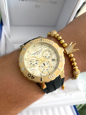 Technomarine Cruise Medusa Swiss Gold + Pulsera Gratis - techno305