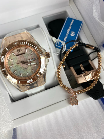 Technomarine  Dos correas + Pulsera Gratis - techno305