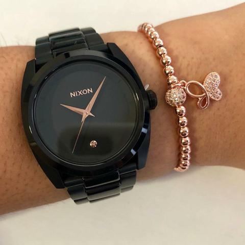 Nixon Full Black & Rose Women - techno305