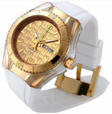 Technomarine Cruise Monogram 40mm Gold Dial Watch + pulsera de llave - techno305