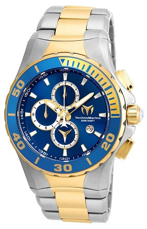 Technomarine TM-215047 Sea Manta Quartz Blue Dial Watch - techno305