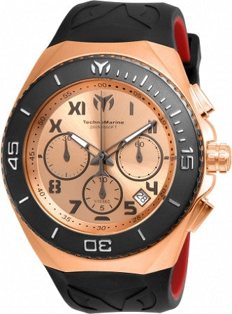 Technomarine TM-215065 Ocean Manta Collection 48mm Rose Gold Dial Watch - techno305