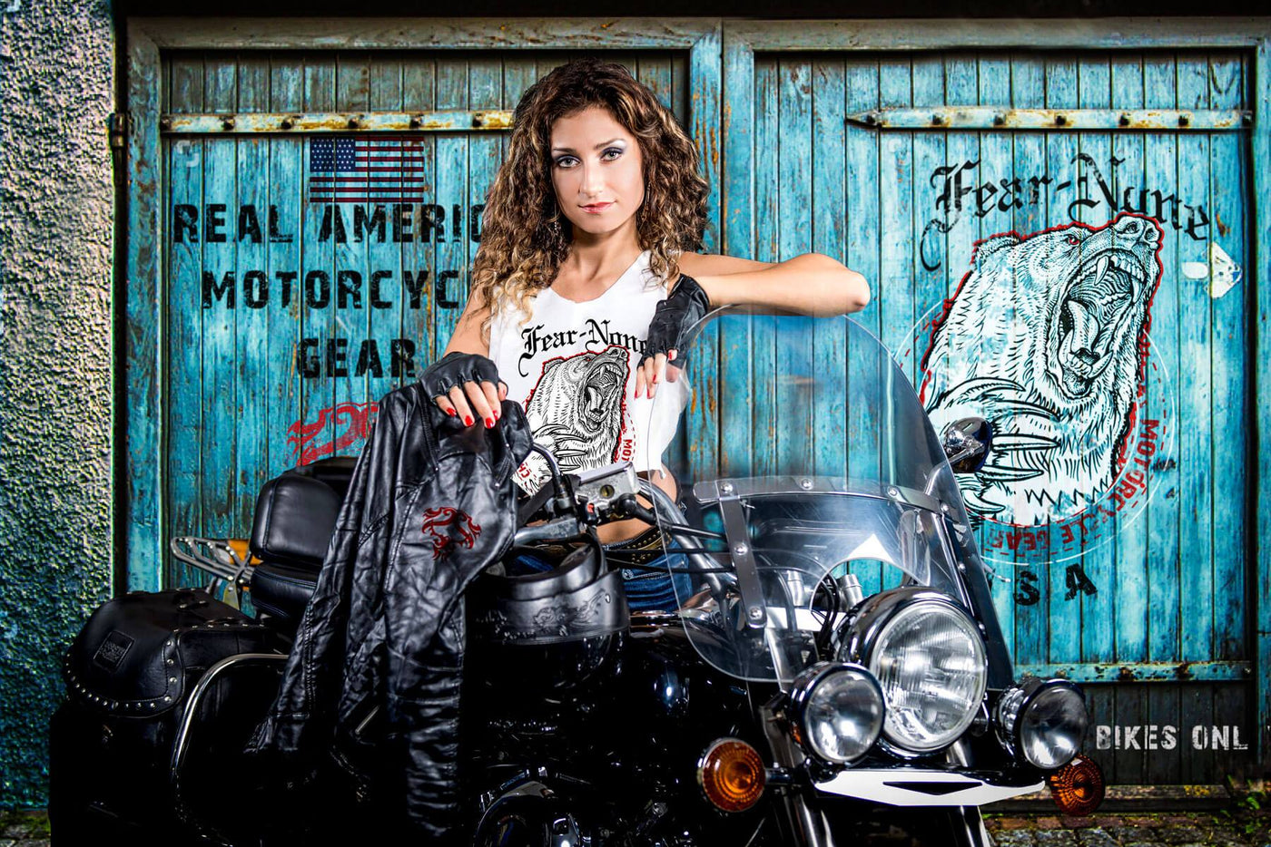 FEAR-NONE Motorcycle Gear Womens Bear Shirts