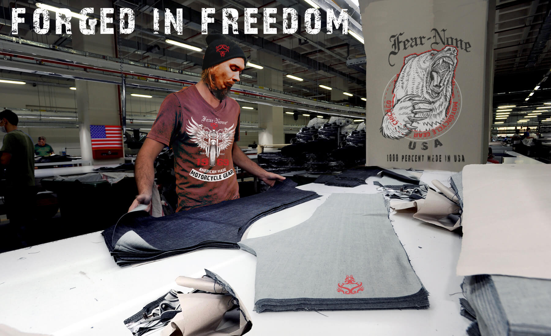 fear none motorcycle gear 100% USA Made