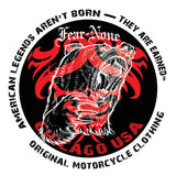 FEAR-NONE Red Bear Rider Decal Sticker