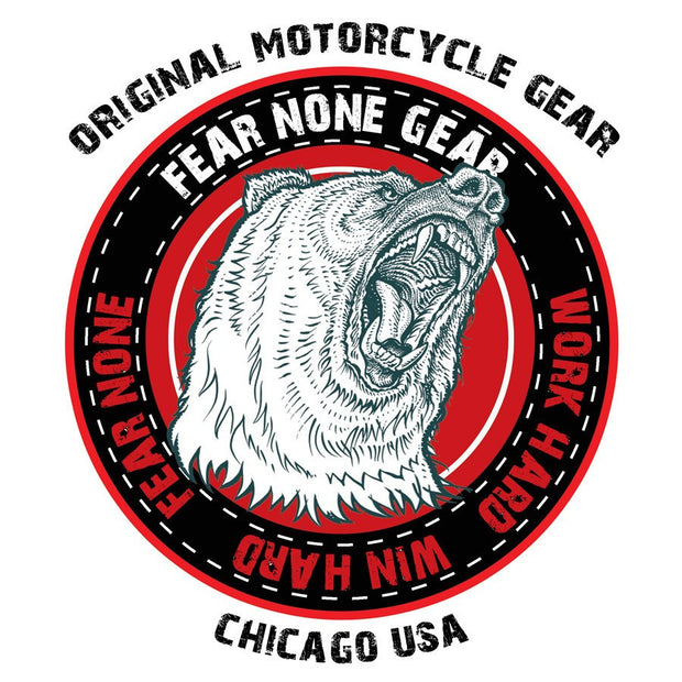 FEAR-NONE King Bear Rider Decal Sticker