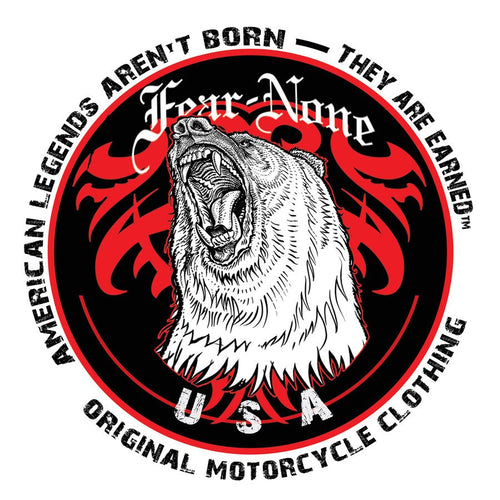 FEAR-NONE King American Bear Decal Sticker