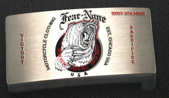 Official FEAR-NONE GEAR BEAR Rider Buckle