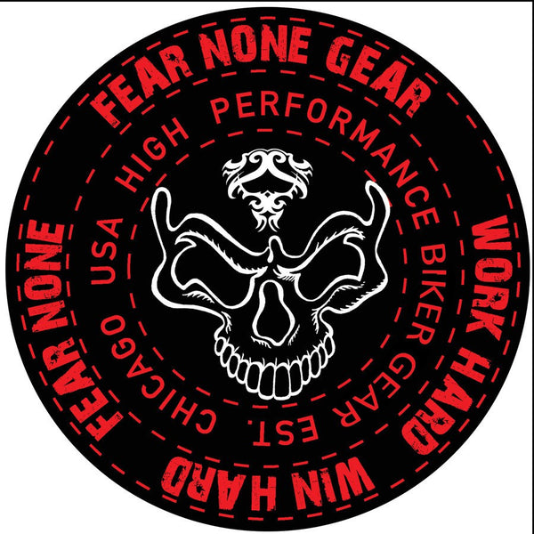 FEAR-NONE Warrior King Rider Decal Sticker