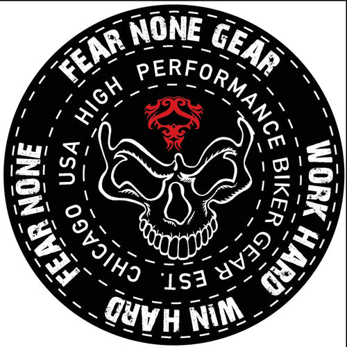 FEAR-NONE Black Warrior King Rider Decal Sticker