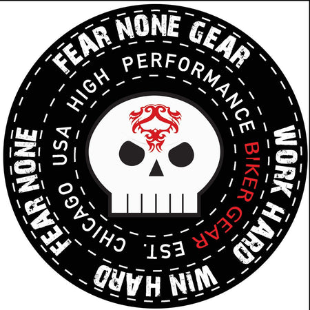 FEAR-NONE Flying Skulls Rider Decal Sticker