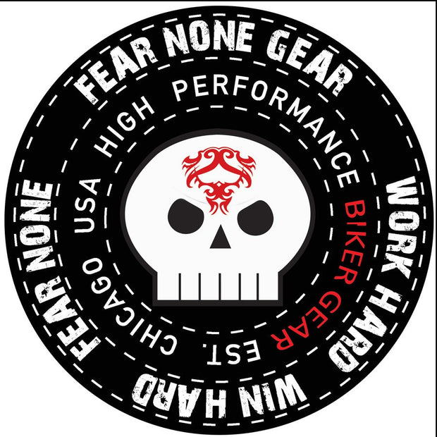 FEAR-NONE Old School Toon Rider Decal Sticker
