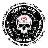FEAR-NONE Black Skull Rider Decal Sticker