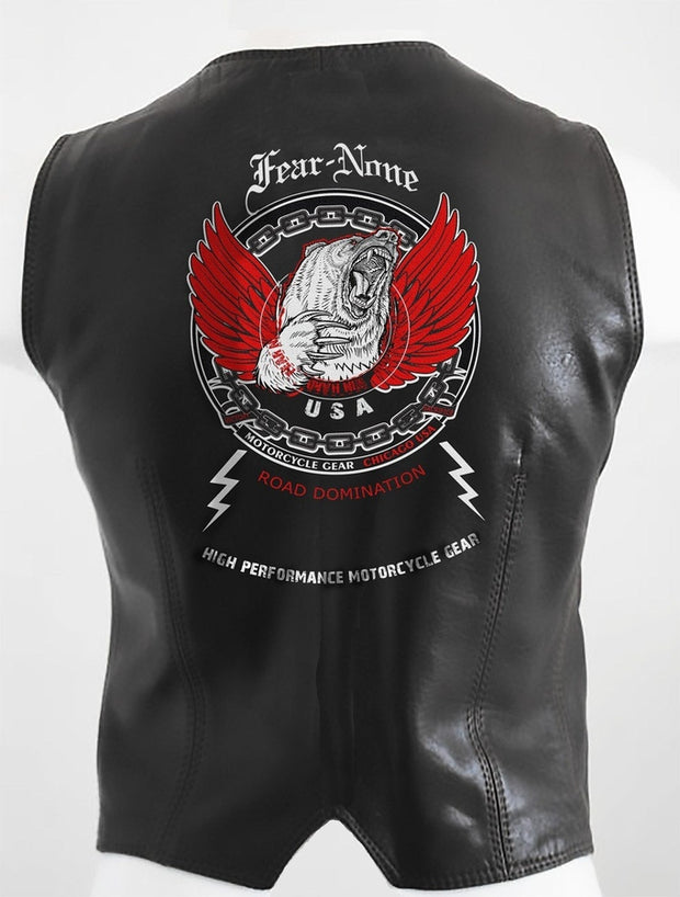Womens Bear Dominator Rider Leather Highway Vest