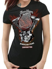 Womens Steel Bear Engine Rider (Short Sleeve)