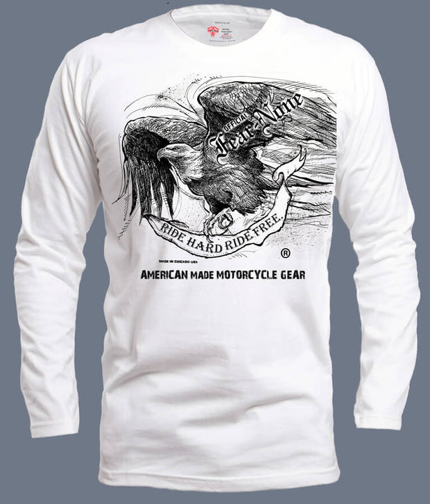 "Womens American ""Old School"" EAGLE Rider (White)"