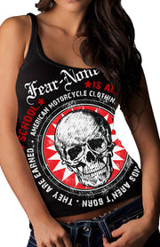 "Women's Sunburst-Skull ""Wrap-Around"" Rider Tank"