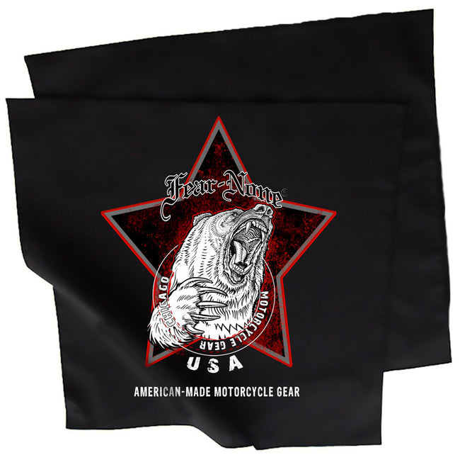 Black Bear Star Rider Bandana