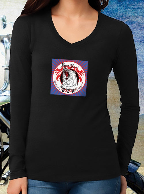 Women's Special Edition Blue Psychedelic Rider V Neck
