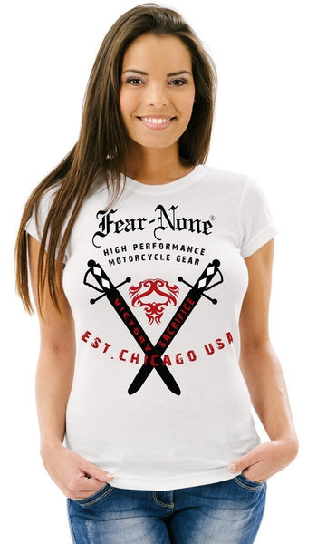 Women's 2-Sword White Tee