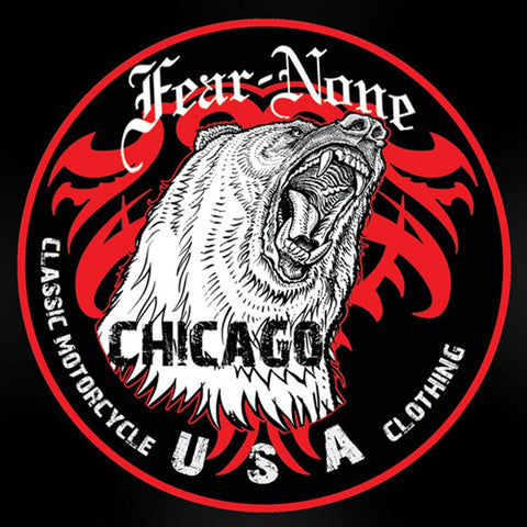 FEAR-NONE Classic King Bear Rider Decal Sticker