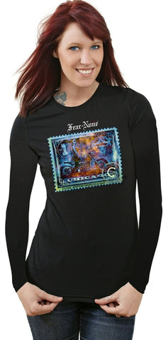 Copper-Blue Freedom Rider Black Long Sleeve