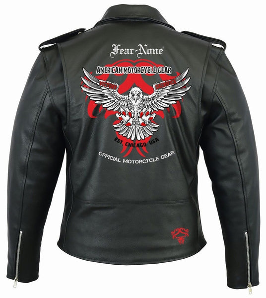 FEAR-NONE Eagle Rider Leather Highway Jacket