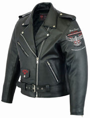 Heavy Duty Rider Leather Highway Jacket