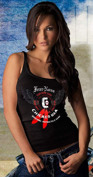 Womens Fierce Skull Rider Tank